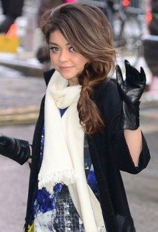 Sarah Hyland Braves the New York City Cold in Cut25 by Yigal Azrouël and Tory Burch