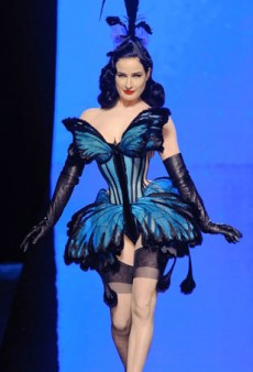 Dita Von Teese and Other Theatrics at Jean Paul Gaultier Haute Couture Spring 2014