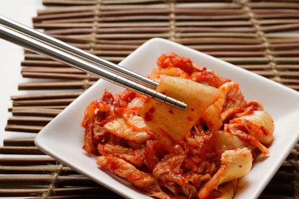 small dish of korean kimchi via getty