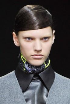 Futuristic Fembot Hair and Makeup at Alexander Wang Fall 2014
