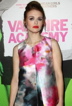 Holland Roden Vamps It Up in Elena Reva at the Vampire Academy Premiere