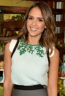 Jessica Alba Marks Her Company's Birthday in Andrew Gn's Resort 2014 Beaded Top