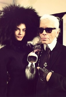 Cara Delevingne Walked Exclusively for Fendi Just to Model Karl Lagerfeld's Stupid Fur Doll