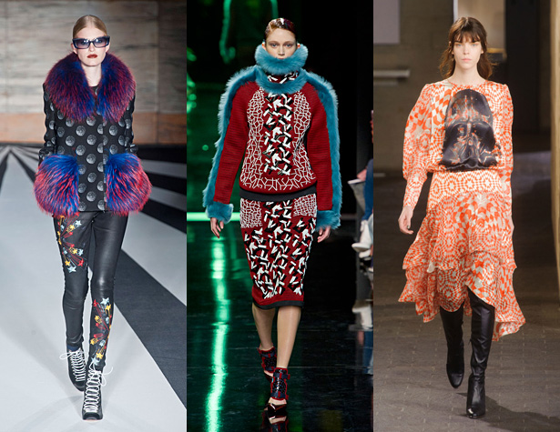 The Misses: Matthew Williamson, Peter Pilotto, Preen. Images via IMAXtree.