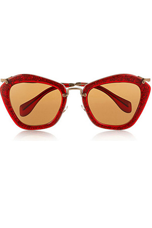 Miu-Miu-Red-glitter-sunglasses