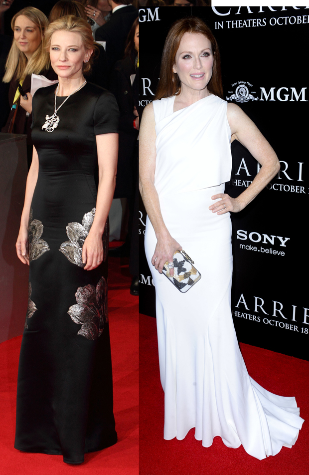Cate Blanchett, Lia Toby/WENN.com; Julianne Moore, Apega/WENN.com