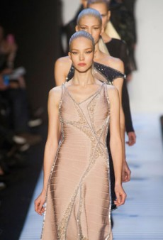 Herve Leger Updates the Bandage Dress with Corsets for Fall 2014 (Runway Review)