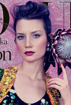 Vogue Australia's Mia Wasikowska Cover is Delicious Kitsch