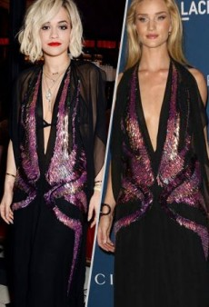 Style Showdown: Rita Ora and Rosie Huntington-Whiteley Go With the Flow in Gucci and More Matching Celebs