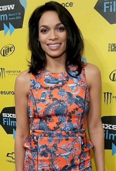 Rosario Dawson Stands Out at SXSW in a Vibrant Matthew Williamson Dress