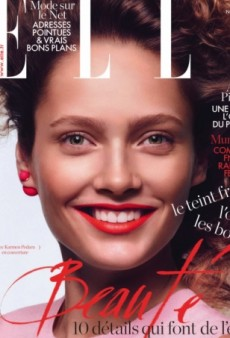 Karmen Pedaru Takes Us Back to the 80s on the Cover of French Elle (Forum Buzz)