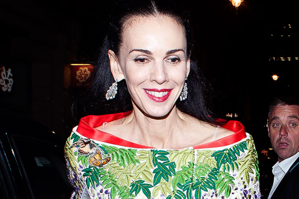 L'Wren Scott in a kimono inspired dress