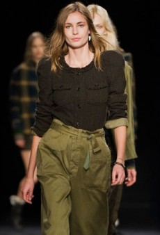 Isabel Marant Mixes Up Her Signature Style with Military and Grunge for Fall 2014 (Runway Review)