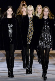 Saint Laurent is Short and Shimmery for Fall 2014 (Runway Review)