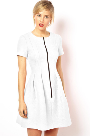 ASOS white skater dress