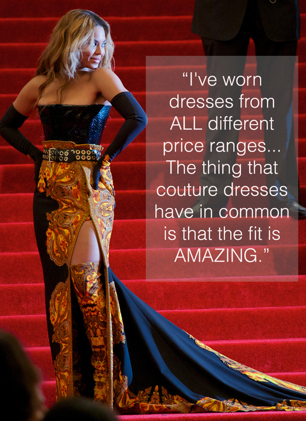 beyonce met gala red carpet couture quote