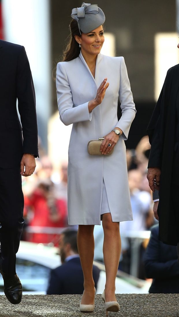 Catherine arrived to Easter service in an Alexander McQueen coat and dress