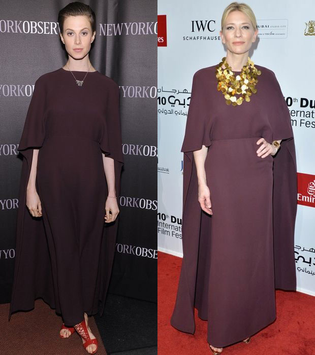 Elettra Wiedemann and Cate Blanchett in Valentino dress