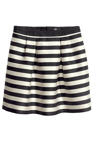 H&M Striped Skirt