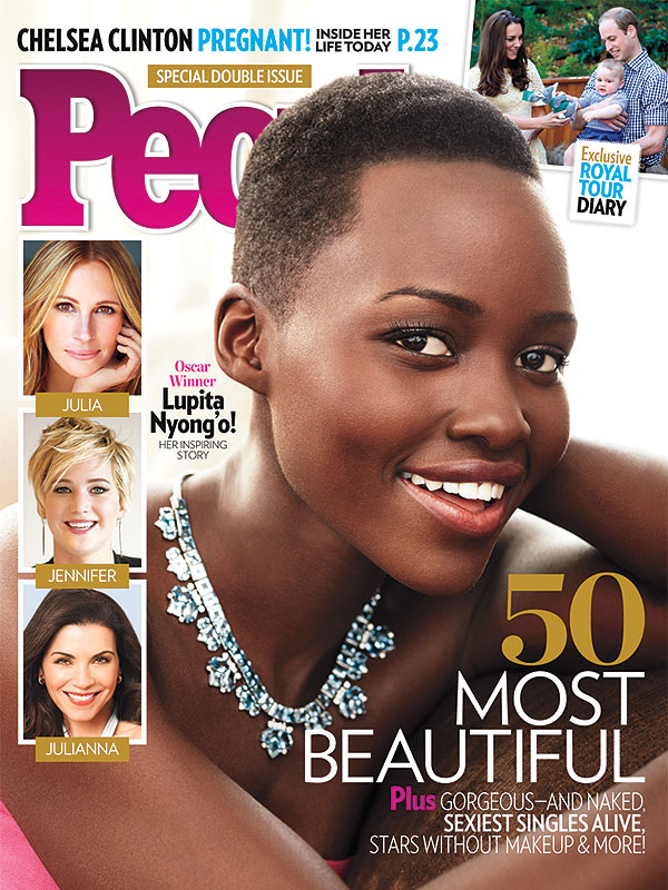 Lupita Nyong'o covers People Magazine's 50 Most Beautiful