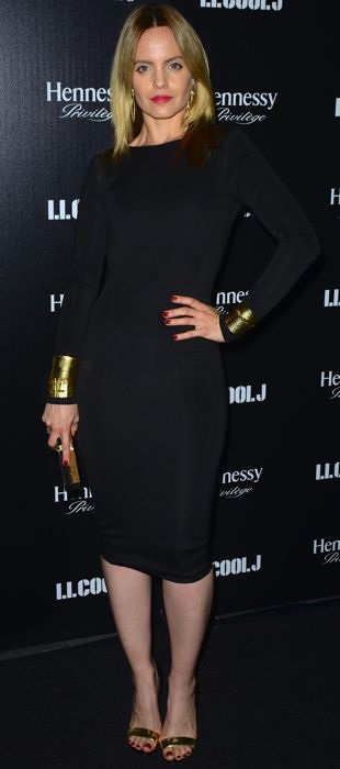 Mena celebrates LL Cool J in a Boulee black dress