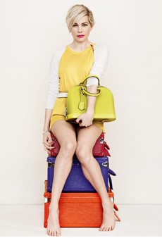 A Blaze of Color: Michelle Williams Styled by Carine Roitfeld for Louis Vuitton