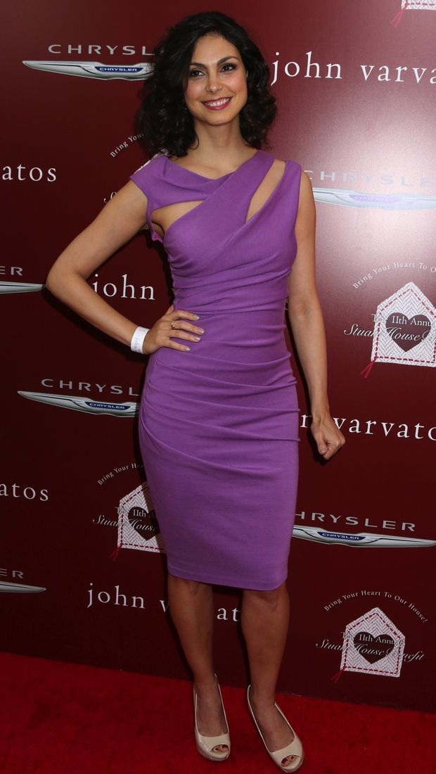 Morena Baccarin impresses in a lilac Kevan Hall dress
