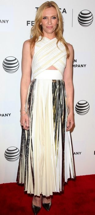 Toni shines in Proenza Schouler at the Tribeca Film Festival