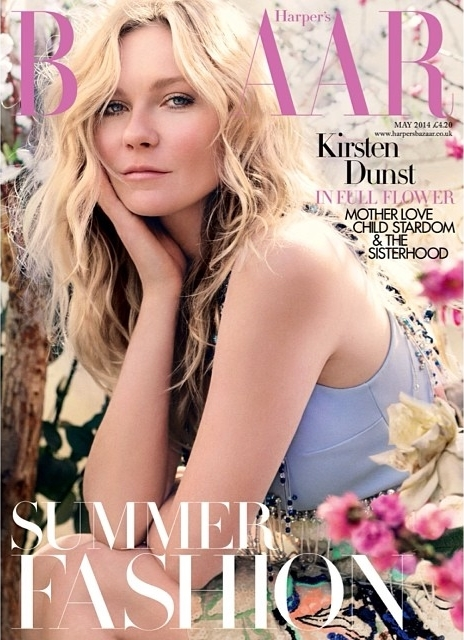 Kirsten Dunst on cover of UK Harper's Bazaar May 2014