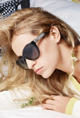 Chanel Eyewear Spring Summer 2014 Alice Dellal