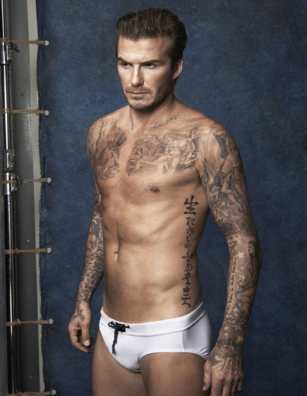 David Beckham shirtless underwear modeling
