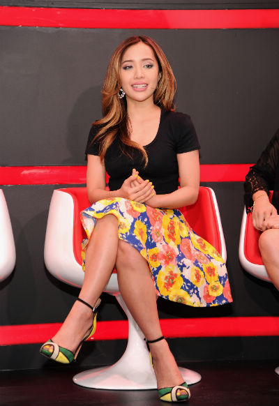 Miachelle Phan on the panel at the YouTube Unleased event