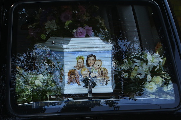 Peaches Geldof casket