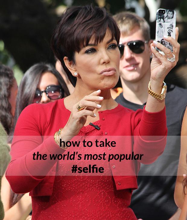 Kris Jenner selfie duckface
