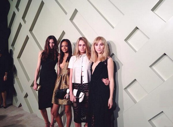 Suki Waterhouse and Cara Delevingne Burberry Shanghai
