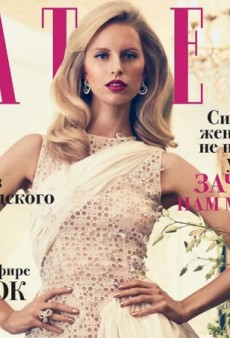 Karolina Kurkova is an Unexpected Housewife for Russian Tatler (Forum Buzz)
