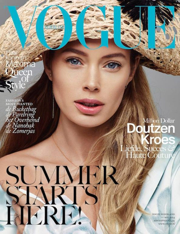 Doutzen Kroes on cover of Vogue Netherland May 2014