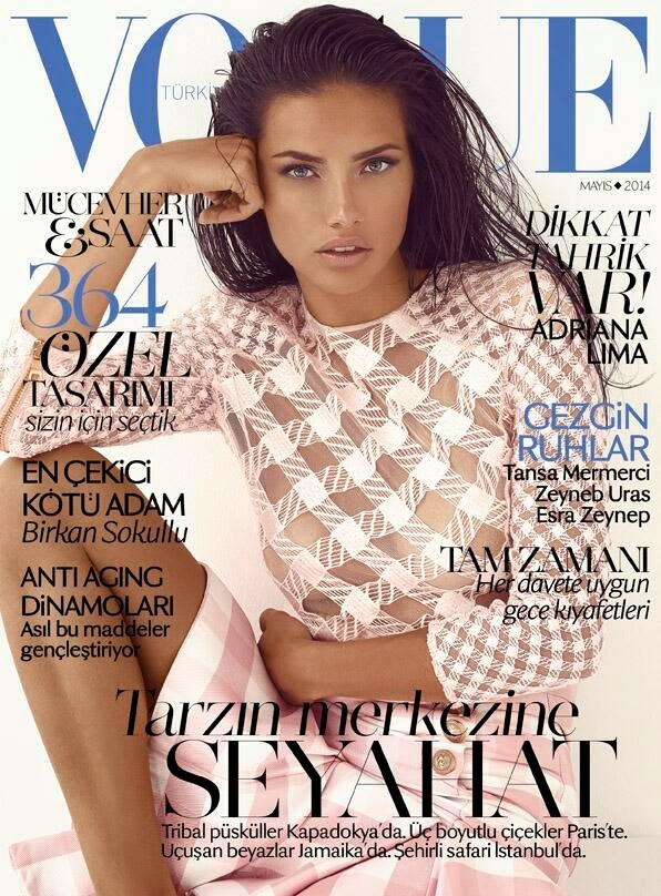 Vogue Turkey May 2014 Adriana Lima
