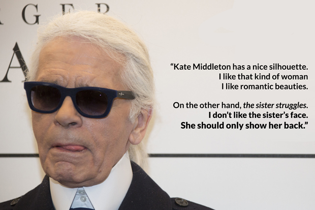 Karl Lagerfeld Bitchy Pippa Middleton