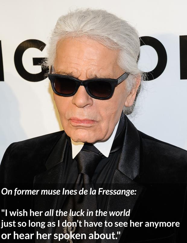 Karl Lagerfeld Bitchy ines de la fressange