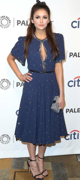 Nina Dobrev decked out in Michael Kors for PaleyFest