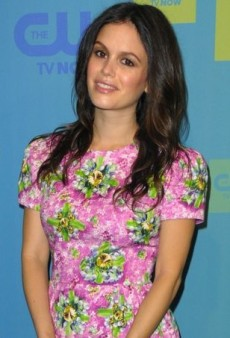Rachel Bilson Mixes Prints in Mary Katrantzou's Pink Spring 2014 Dress