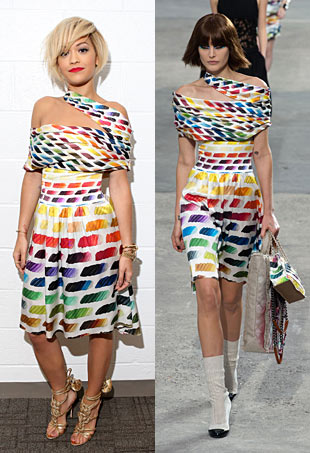 Rita Ora in Chanel Spring 2014