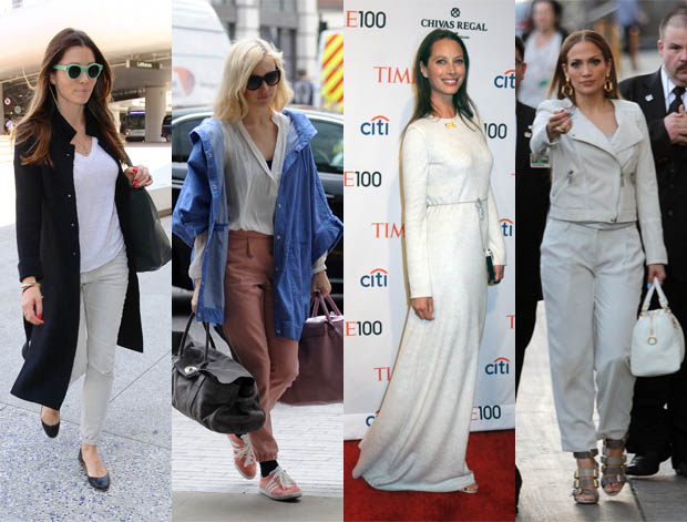 Jessica Biel, Fearne Cotton, Christy Turlington, Jennifer Lopez lighten up for spring