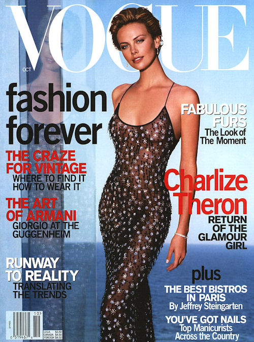 Flashback, US Vogue October 2000 Charlize Theron