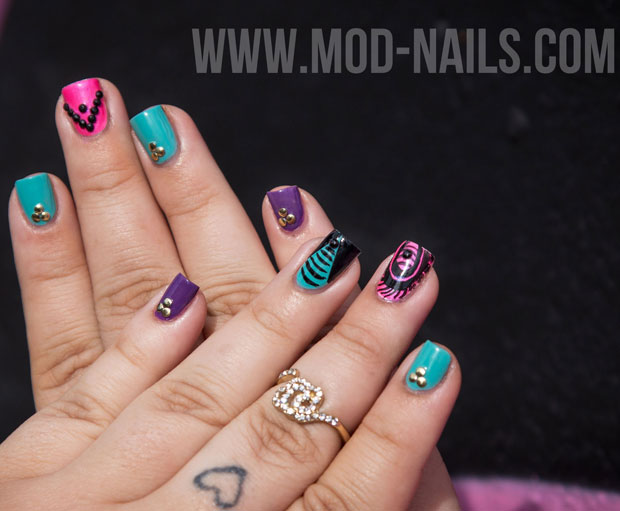 Nail Art How To Modnails Gets Inspired By Colorful Urban City Art