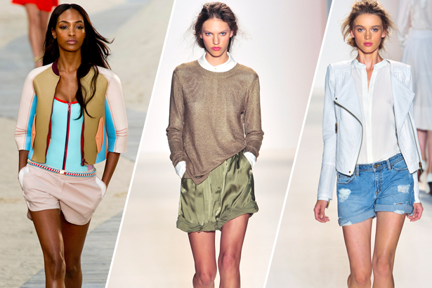 Shorts on the Tommy Hilfiger, Rachel Zoe Runways, Spring 2014