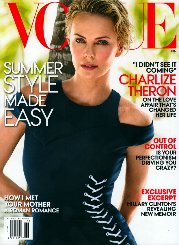 US Vogue June 2014 Charlize Theron Mario Testino