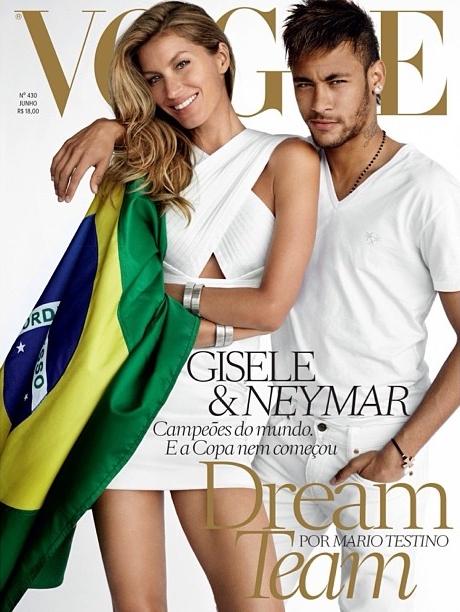 Vogue Brazil June 2014 Gisele Bundchen Neymar Mario Testino