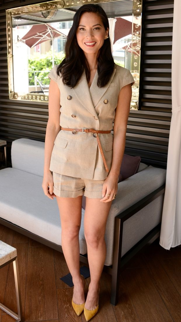 Olivia Munn looked ready for adventure in this safari-inspired Michael Kors outfit